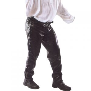 Lederhose, schwarz, Männerhose