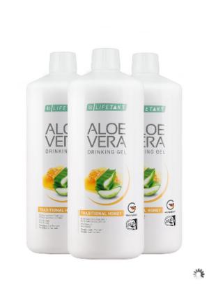 Aloe Vera Drinking Gel Traditionell mit Honig 3er Set