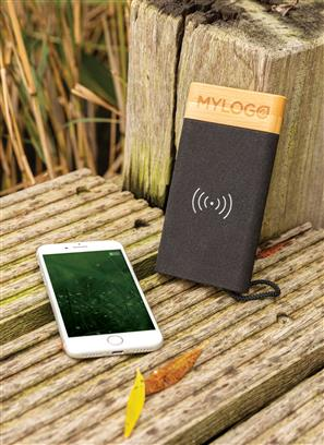 Bamboo X 5000mAh Wireless Charging Powerbank