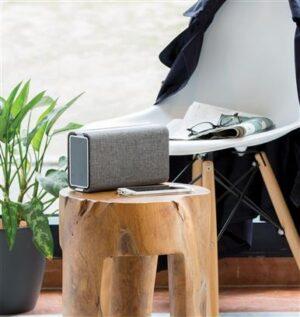 Vogue Lautsprecher und Powerbank mit Stoffbezug