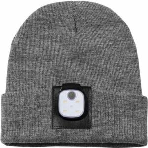 """Metmaxx® Mütze """"Beanie&MobileLightConnect"""" grau/schwarz"""