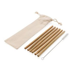 Wiederverwendbares ECO Bambus Trinkhalm Set 6-tlg