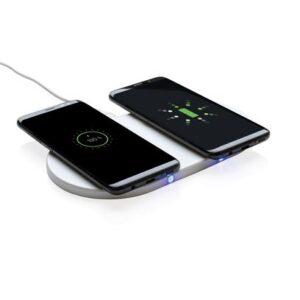 Wireless-Charger mit zwei 5W Ladeflächen