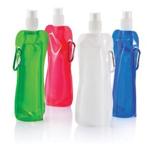 Faltbare Wasserflasche mit Karabiner