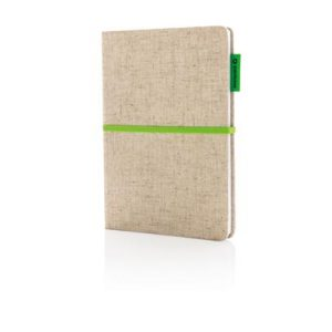 A5 Eco Jute Baumwoll-Notizbuch